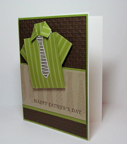 Father's Day Shirt Fold Card by Andrea G71