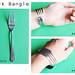 Fork bangle: before & after