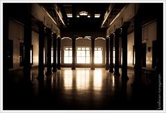 Giant Hall (pugaipadangal) Tags: india giant hall pillar hallway pillars tamilnadu chettinad kothamangalam