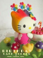 Hello Kitty birthday cake topper (charles fukuyama) Tags: birthday cute hellokitty decoration clay birthdaygift customcaketopper hellokittycaketopper