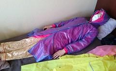 pvc rainwear (coatrPL) Tags: raincoat pvc rainwear fetish shiny płaszcz przeciwdeszczowe coat nightdress pajama