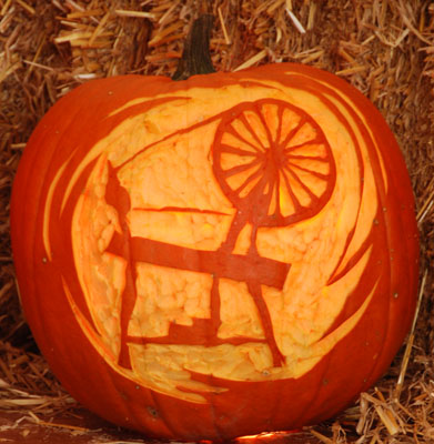 spinning wheel pumpkin