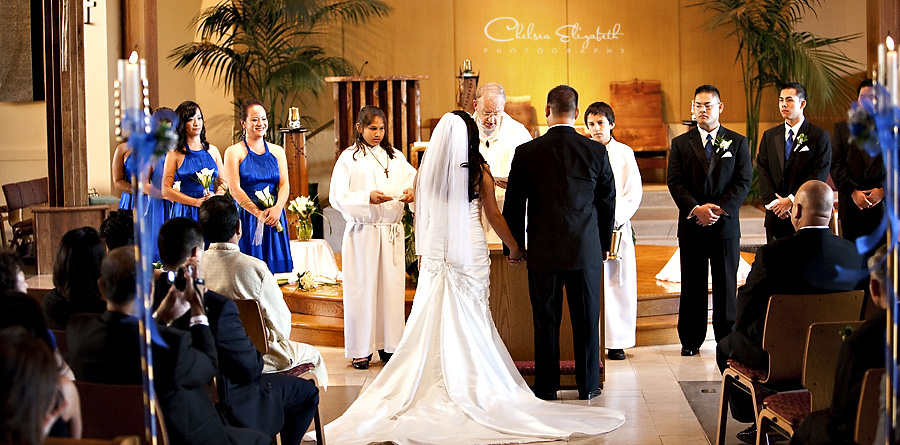 St. Maximilian Kolbe Catholic Church wedding ceremony picture