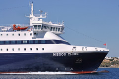 Nissos Chios, Paros (Mr Snail) Tags: ocean sea ferry port island greek harbor boat dock ship aegean greece paros cyclades ferryboat paroikia parikia horbour hellenicseaways nissoschios