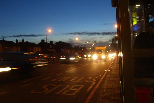 The North Circular Road in London at dusk