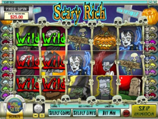 free Scary Rich slot free spins