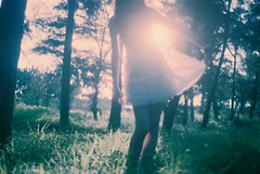 [フリー画像] [人物写真] [女性ポートレイト] [森林/山林] [ワンピース]       [フリー素材]