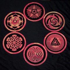 Fluorescent Crop Circle Coasters