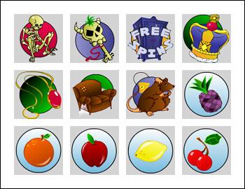 free Grandma's Attic slot game symbols