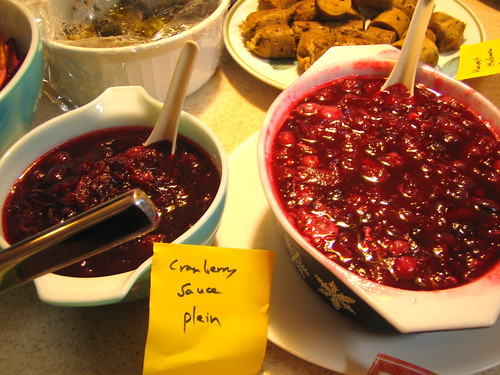 cranberry sauce two ways