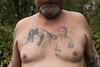 ZBYSZEK KARATE Unfinished chest tattoos.