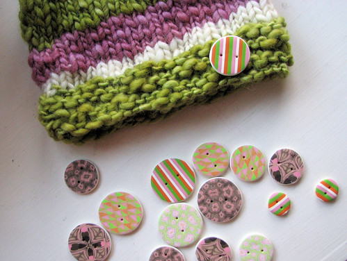Buttons in progress + hat in progress