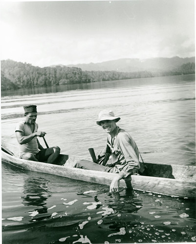 Hugo Curran returning to the Cheng Ho after spending the night in a mangrove forest