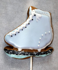 Slate Blue Skate (alicakescupcakery) Tags: blue cookie skate alicakes alicakescupcakery