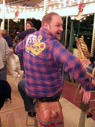 matt on the carousel at the mall of america (339/365)
