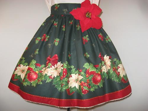 Christmas skirt 2009 002