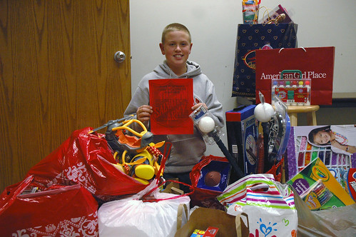 Zionsville Middle School student Jake Iery helped donate 180 toys for The Salvation Armys Toy Shop.