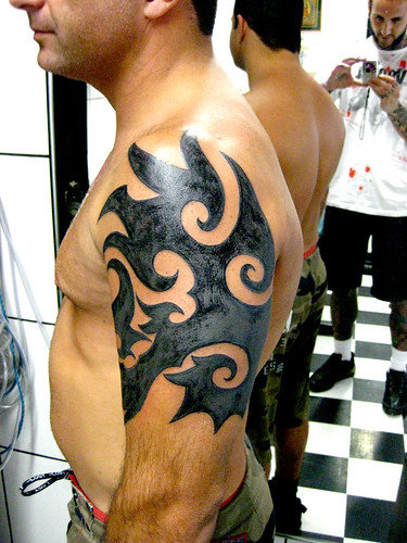 Tatuagem tribal shoulder tattoo