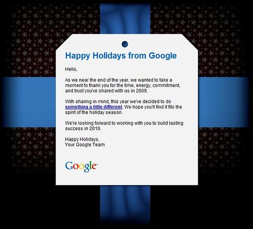 Happy Holidays from Google - Card
