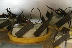 Dulcinea. Sablè Bretone, mousse al cioccolato e pere alle 5 spezie. Mario Ragona