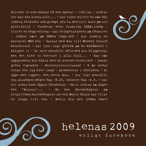 Helenas 2009 enligt Facebook