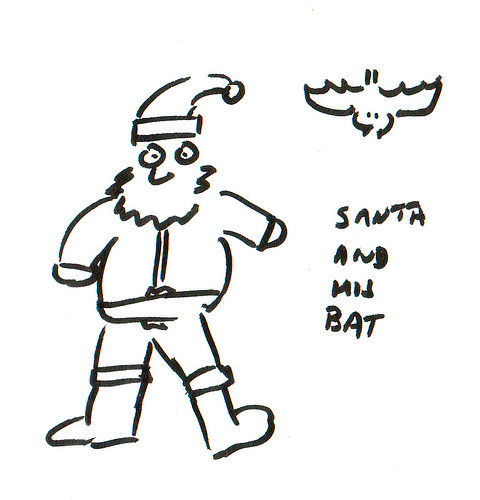 366 Cartoons - 327 - Santa and his bat
