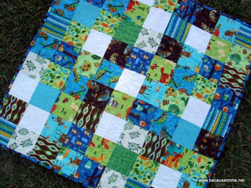 simple boy patchwork quilt