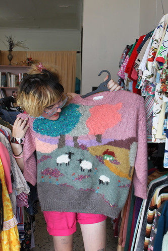 country knitted jumper