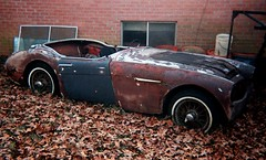 Austin Healey carcass (funsky1) Tags: trip scans arkansas 109 werlisa