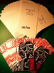 gasmask MASSAKRE MASK for STICKER WARS II 2010 (DOPPELGANGER_MASSAKRE) Tags: red white streetart black death for graffiti mask stickers vinyl guerra gas morte ii gasmask anti 2009 maschera signed adesivo vinile 100100 stickerwar massakremask numerato