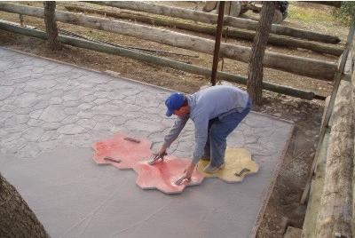 confeccion pavimento estampado