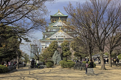 Osaka-jo (WilliamBullimore) Tags: travel trees castle japan japanese sakura cherryblossoms osaka hdr hdri osakajo osakacastle digitalcameraclub osakafu colorphotoaward canonef1635mmf28liiusm canonrc1wirelessremote manfrotto190xbtripod canoneos5dmarkii ozakajo manfrotto322rc2heavydutygripballhead