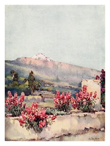 025- El Pico del Teide desde la villa de la Orotava-The Canary Islands (1911) -Ella Du Cane