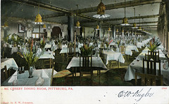 McCreery Department Store Dining Room Pittsburgh PA (Edge and corner wear) Tags: retail architecture shopping restaurant store interior postcard department retailing