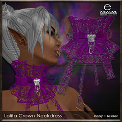ezura + Lolita Crown Neckdress *Purple (ezura Xue) Tags: ezura