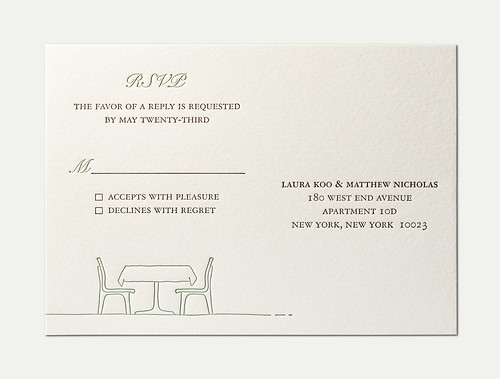 LM Wedding RSVP Card