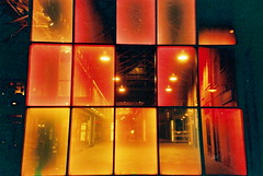 Lighting panels (25ThC) Tags: camera red london film 35mm lomo lca lomography fuji 25 400 british analogue expired expiredfilm fujixtra400 redscale fujixtra redscaled 25thc