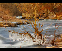 River Runs Through It (BamaCanon) Tags: winter ice water canon eos long exposure slow north alabama albertville 50d napg bamacanon