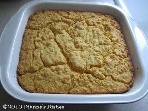 Gluten Free Parmesan Cornbread: Baked