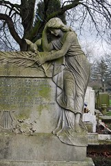 Dove with woman. (maggie jones.) Tags: e14 manorpark cityoflondoncemetery grade2listed cityoflondoncemeterymanorpark