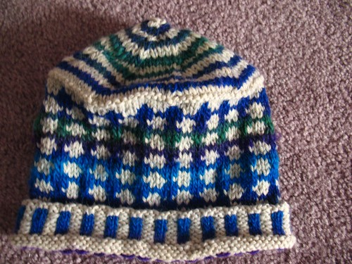 knitted hat - own design