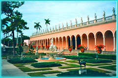 John & Mable Ringling Museum ~ Exterior ~ Sarasota Fl. #3 (Onasill ~ Slowing Down) Tags: world travel usa art tourism fountain gardens museum yard court john university estate view florida circus district fsu statues arches landmark tourist historic route american historical sarasota fl 1001nights 19 attraction panaroma mable ringling italianate nrhp 1001nightsmagiccity