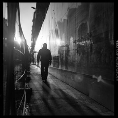 ... (Laurent Filoche) Tags: france streetphotography hasselblad toulouse ilforddelta400 500cm bonzography ruedemetz hypercentre