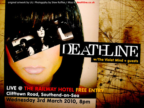 Deathline @ The Railway Hotel, Southend-on-Sea. Wed 3rd March 2010