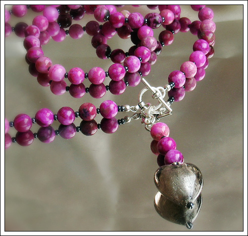 Ruby jasper necklace