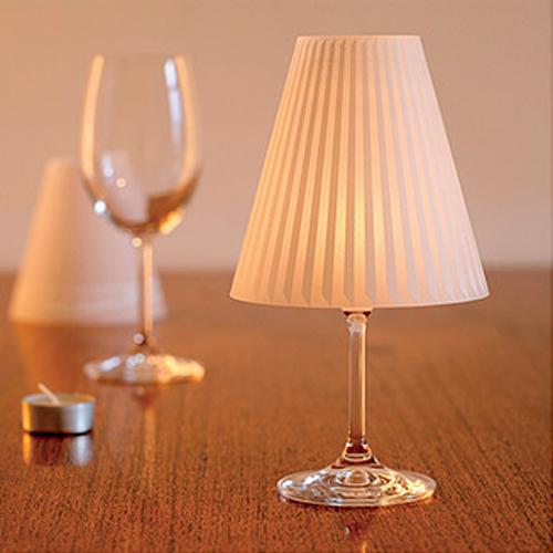 abajur taça de vinho luz