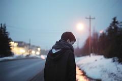(kara o'keefe) Tags: road boy film night streetlight bokeh brother mark