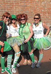 Irish Girls Smile (wyojones) Tags: new girls irish green garter smile sunglasses saint bicycle st socks french beads women orleans louisiana day legs neworleans shades redhead frenchquarter blonde quarter patricks brunette lovely skirts stpatricksday tennisshoes paddys stpaddy cresentcity irishgirls neworleanslouisiana wearingothegreen wyojones irishtourdeliqueur tourdeliqueur