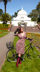 be a cyclist, wear a dress! (Kristin Tieche) Tags: sanfrancisco kt dianevonfurstenberg velovogue