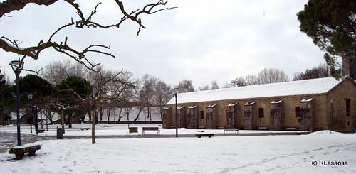 Vista del Pabellón de Mixtos, en el interior del recinto fortificado de la Ciudadela, edificio reformado en 1720  por Ignacio Sala.